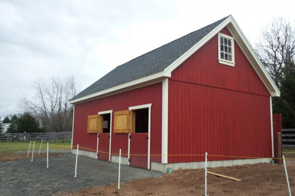 20x30 Two-Stall Barn with Tack Room