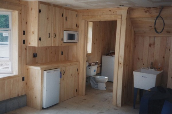 Tack room with full bath and laundry