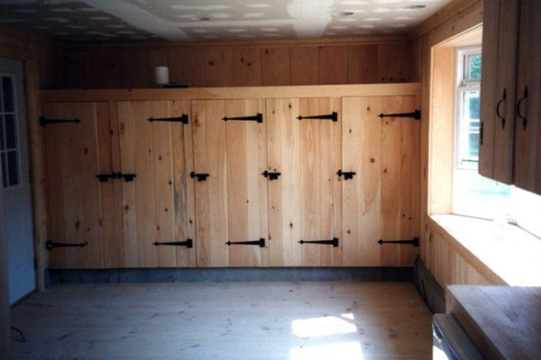Tack room with site built lockers