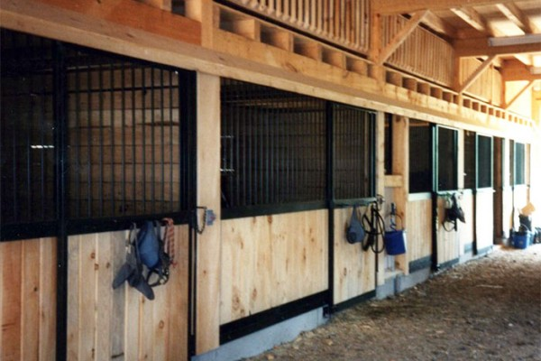 Stall fronts and split level loft above