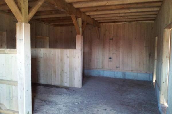 Oak lined stalls