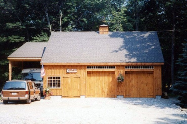 2 Stall garage with carport