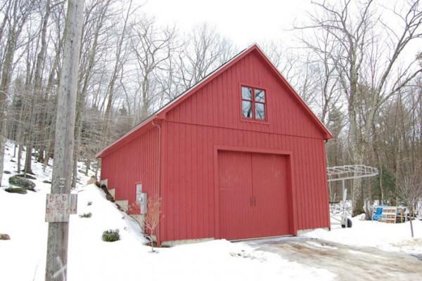 Garages sevigny custom barns post and beam for 24x32 pole barn